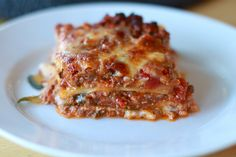 Primal Zucchini Lasagna. Replace lasagna noodles with fresh zucchini. Calls for Italian sausage and ground beef.