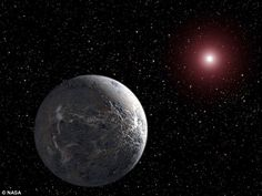 K2-3d has a warm, Earth-like climate. It's possible that liquid water could exist on the surface of the planet, heightening the potential for alien life. Pictured is an artist's impression of a super-Earth like K2-3d orbiting its host star