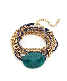 Rock Candy Wrap Bracelet - Teal #shoplately