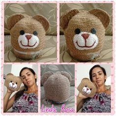 Gorro urso para fotos de bebês