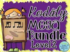 Kodaly Level 2 Mega Bundle  #musicedchat #Kodaly #rhythm #melody #solfege #folksongs #singinggames #elementarymusic #musicteacher