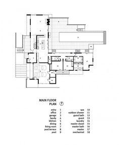 Plano casa de un piso 280 metros cuadrados