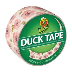 This 10 yd. vintage floral printed duct tape is great for repairs, crafting a wallet or rose, labeling or decorating that's perfect for your home, office or classroom.