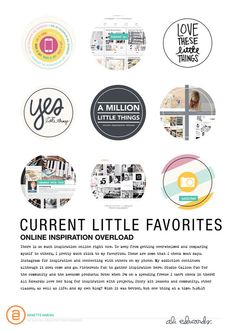 Current Little Favorites | online inspiration edition by Annette H at @studio_calico