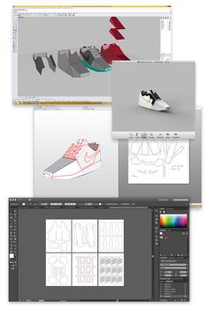 I created a series of collectible paper tributes to the best shoe company in the world. Shown here is a little bit of my process, and final results.