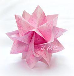 Diagramas & Cia.: Bouganville - diagrama Instruções Origami, Origami And Kirigami, Origami Ball, Money Origami, Modular Origami, Paper Crafts Origami, Origami Design, Origami Stars, Paper Crafting