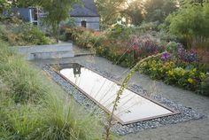 June Black garden Ireland pond ; Gardenista