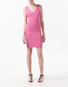DRESS WITH CROSSOVER NECKLINE - Dresses - Woman - ZARA United States