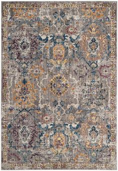 Safavieh Bristol Collection Rug, Grey/Blue, Use Size/Weight W / D / H / lb. Have in one's possession Materials Polyester. Have Assembly Required No. Be faced with Category Area Rugs Unisex Baby Clothes, Baby Clothes Shops, Transitional Area Rugs, Contemporary Classic, Contemporary Rugs, Floral Rug, Furniture For Small Spaces, Rugs Online, Power Loom