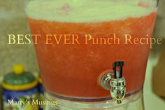 New Diy Brunch Party Orange Juice Ideas Jello Punch Recipe, Frozen Punch Recipe, Punch Recipes, Party Drinks Alcohol, Fun Drinks, Yummy Drinks, Yummy Food, Beverages, Slush Punch