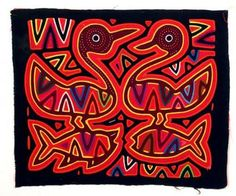 Mola from San Blas Island, Panama. I have been there and am fortunate to have 2 molas from there.