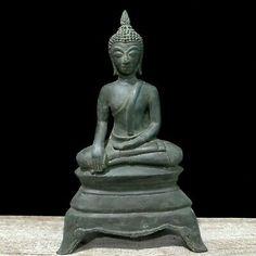 "11.4"" North Thai Chiang Mai Lanna Relic Buddha Statue Meditate Lower Arm | eBay Thai Buddha Statue, Spiritual Figures, Thai Elephant, Gautama Buddha, Northern Thailand, Guanyin, Antique China, Chiang Mai, Pilgrimage"
