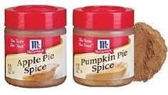 Homemade apple and pumpkin pie spices