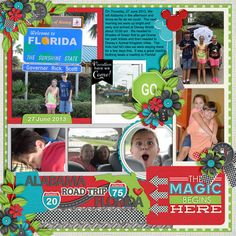 Cindy Schneider - Universal Album 4 - Template 25 Cindy Schneider - Magical Layer Card Freebie Kristian Aagard - On the Road Lgrier - Map-It USA sahlin studio - enjoy the moment add on Penny Springmann - miscellany Road trip