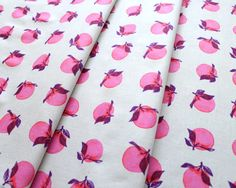 COTTON+STEEL Fruit Dots 0030-2 Peaches Bright Pink