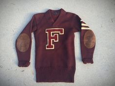 1930's Lowe and Campbell Vintage Letterman Sweater Sz Small