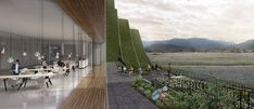 Image 30 of 42 from gallery of Hualien Residences / BIG. Photograph by BIG Public Architecture, Landscape Architecture, Architecture Design, Architect Magazine, Green Landscape, Exterior Design, Home Projects, Adventure Travel, Facade