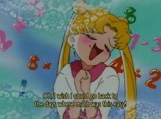sailor moon, math, and anime image Sailor Moon Aesthetic, Aesthetic Anime, Cartoon Network, Sailor Moon Quotes, Sailor Moon Funny, Sailor Moon Screencaps, Sailor Moon Usagi, Sailor Venus, Sailor Mars