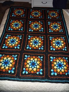 Stained Glass blanket,                                      love the colors