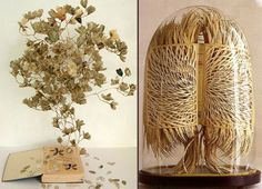 "Sue Blackwell and Georgia Russell transform books into works of art. Sue creates book-cut sculptures that represent the essence of the book. Her pieces are a must see. Georgia uses a scalpel to transform ""found ephemera."" Extraordinary detail."