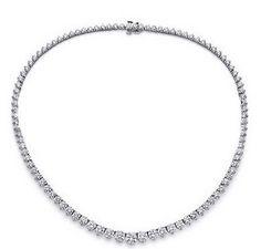 Diamantcollier mit 5.00 Karat Diamanten aus 585er Weißgold   #diamant #collier #weissgold #diamanten #brillanten #diamantschmuck #diamantcollier