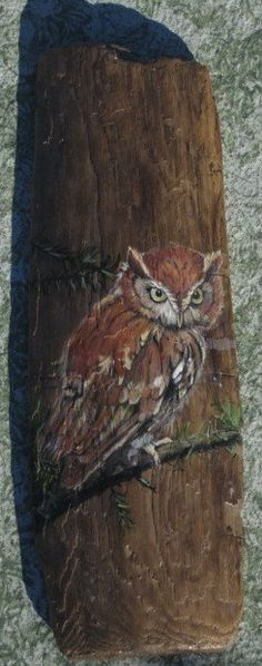 Another wonderful piece of painted driftwood by MaryAnn!  Owl Painted on Driftwood by MaryAnnBlosser on Etsy, $48.00