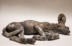 Wild Dog Sculpture - Nick Mackman Animal Sculpture