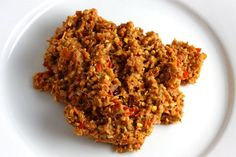 Red Curry Paste ~ Ingredients: 10 dried red chilies (toasted) 1 kaffir lime (or lime, juice and zest) 4 tablespoons shallots (chopped) 3 tablespoons garlic (chopped) 2 tablespoons galangal (or ginger, chopped) 2 tablespoons lemongrass (peeled, lower 2 inches) 1 tablespoon cilantro root 1 teaspoon white peppercorns (toasted and ground) 2 teaspoons coriander seeds (toasted and ground) 1 teaspoon cumin seeds (toasted and ground) 1 tablespoon shrimp paste