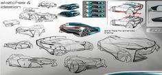 Darby Barber's Volkswagen racecar concept sketches