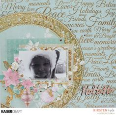 Ho ho ho' layout by Kirsten Hyde DT for Kaisercraft using 'Christmas Wishes' collection - Wendy Schultz ~ Christmas Layouts. Photo Layouts, Scrapbook Page Layouts, Scrapbook Pages, Scrapbooking Ideas, Christmas Wishes, Xmas, Christmas Layout, Smash Book Pages, Scrapbook Journal