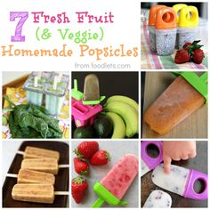 7 fresh fruit & veggie homemade popsicles
