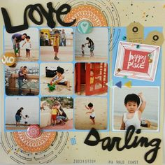 """Layout """"Love U Darling"""" using HKMC March 2014 kit featuring Monte Paper Mill """"Take2"""" and Amy Tangerine """"Plus One"""""""