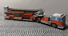 Seagrave 100' TDA Fire Engine Free Vehicle Paper Model Download