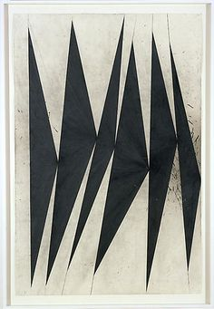 MARK GROTJAHN  Untitled (Dancing Black Butterflies)(panel 8 of 9), 2007  Color pencil on paper