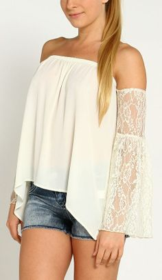 cute top - this would be cute with a maxi skirt too.