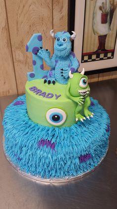 Monster Inc Cakes, Novelty Cakes, Birthday Cakes, Desserts, Food, Tailgate Desserts, Deserts, Essen, Birthday Cake