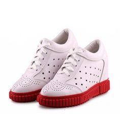 73f993f8f 94.66 |Plataforma de la mujer zapatos de cuero genuino zapatos de tacón  alto aumento de la altura casual zapatos de las señoras zapatos mujer  zapatillas ...