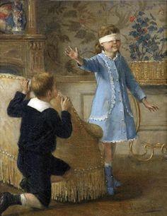 Albert Roosenboom (1845-1873) –– Hide And Seek (869x1127)