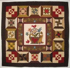 Vote thru for Morton Masterpiece. This quilt is Spoolin' Around made by Mary Jones Colorful Quilts, Small Quilts, Mini Quilts, Bonnie Hunter, Quilt Stitching, Applique Quilts, Quilting Projects, Quilting Designs, Spool Quilt