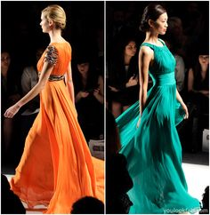 The green gown on the right-- gorgeous! by Farah Angsana