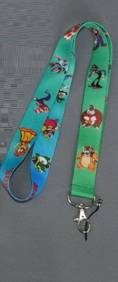 Super Mario Bros Style # 3 Lanyard Neck Strap Cell Phone ID Badge Holder -- Awesome products selected by Anna Churchill