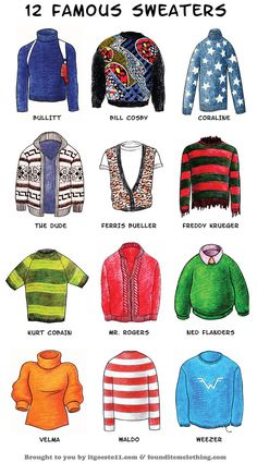 12-famous-sweaters-graphic***I'm aaaall about the stripes.