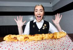 The Christmas dinner staple is battered and 2 feet long Sausage Wrap, Fish And Chip Shop, Pigs In A Blanket, Food Trends, Fish And Chips, Food Festival, Cravings, Bacon