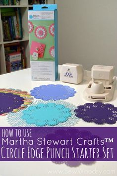 How To Use Martha Stewart Crafts Circle Edge Punch Starter Set + Giveaway #12MonthsOfMartha from SewWoodsy.com