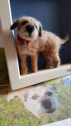 Needle felt dog portrait commission   Etsy Needle Felted Animals, Felt Animals, Irish Terrier, Needle Felting Tutorials, Felt Dogs, Wool Art, Border Terrier, Brown Dog, Christmas Crafts For Kids