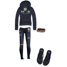 Cute Hollister Outfit!!! With boots it would be adorns