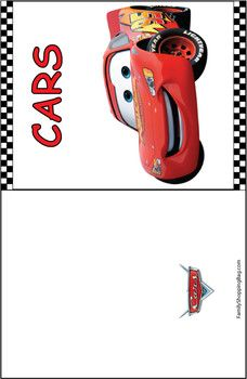 Cars Blank Card free printable