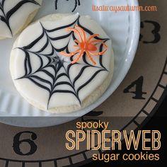 Halloween recipe: spooky spiderweb sugarcookies - itsalwaysautumn - it's always autumn