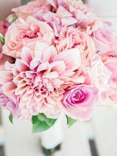 Petite wedding bouquet with dahlia to accent | Carneros Inn Napa wedding