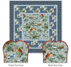 Nature inspired fabric and two winter patterns from @Quilting Treasures are sure to freshen up your home.